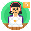 Customer Representative Bitcoin Assistant Bitcoin Representative Icon