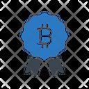 Badge Medal Bitcoin Icon