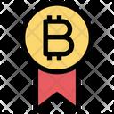 Bitcoin Badge Prize Badge Icon