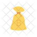 Bitcoin Bag Currency Icon