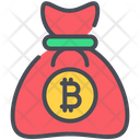 Bag Bitcoin Money Icon