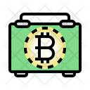 Bitcoin Bag Business Man Cyptocurrency Icon