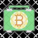 Bitcoin Bag Business Man Bitcoin Icon