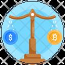 Bitcoin Scale Bitcoin Balance Balance Scale Icon