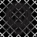 Bitcoin Balloon Icon
