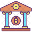 Bank Institution Bitcoin Bank Bank Icon