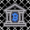 Bank Bitcoin Crypto Icon