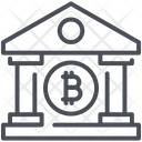 Bank Bitcoin Cryptocurrency Icon