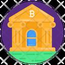 Bitcoin Bank Blockchain Bank Bitcoin Institution Icon