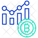 Bitcoin Bar Chart Icon