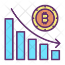 Bitcoin Bar Graph Icon