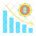 Bar Graph Bitcoin Bar Graph Bitcoin Analysis Icon