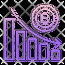 Bar Graph Bitcoin Bar Graph Bitcoin Analysis Icon