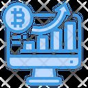 Bitcoin Bar Graph Icon