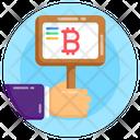 Bitcoin Ad Board Bitcoin Board Blockchain Icon