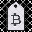 Bitcoin Tag Sticker Icon