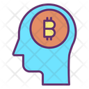 Bitcoin Brain Icon