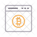 Online Bitcoin Currency Icon