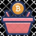 Bitcoin Bucket Icon