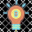 Bitcoin Bulb Icon