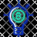 Idea Bulb Bitcoin Bulb Creative Bitcoin Idea Icon