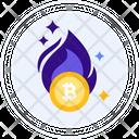 Proof Of Burn Bitcoin Burning Burning Icon