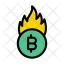 Bitcoin Cryptocurrency Fire Icon