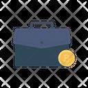 Briefcase Bag Bitcoin Icon