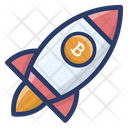 Bitcoin Business Launching Icon