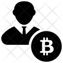 Bitcoin Businessman Icon