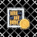 Bitcoin Abacus Calculation Icon