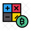 Calculation Accounting Bitcoin Icon