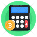 Budget Bitcoin Calculation Money Calculator Icon