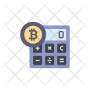 Bitcoin Calculator Calculation Icon