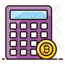 Bitcoin Calculations Financial Calculator Blockchain Calculations Icon