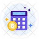 Calculator Bitcoin Money Icon