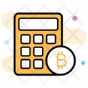 Cryptocurrency Calculator Bitcoin Calculator Blockchain Calculator Icon