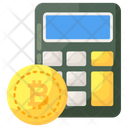 Blockchain Calculation Cryptocurrency Calculation Bitcoin Calculator Icon