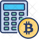 Bitcoin Calculator Device Icon
