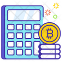 Bitcoin Calculator Bitcoin Calculation Accounting Icon