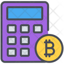 Bitcoin Calculator Cryptocurrency Icon