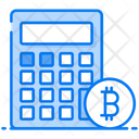 Bitcoin Calculator Money Savings Bitcoin Accounting Icon