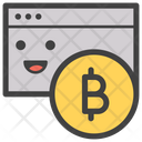 Bitcoin Card Emoticon Emotion Icon