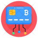 Bank Card Bitcoin Card Digital Currency Icon
