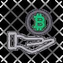Bitcoin Care Icon