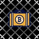 Bitcoin Case Suitcase Briefcase Icon