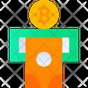 Withdraw Cash Bitcoin Cash Atm Machine Icon