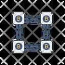 Chain Bitcoin Crypto Icon