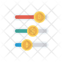 Graph Bitcoin Currency Icon