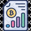 Bitcoin Chart Data Icon